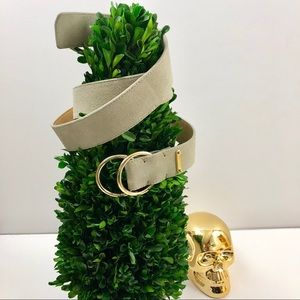 Michael Kors Suede Double Ring Belt